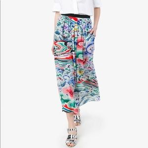Mary Katrantzo colorful skirt